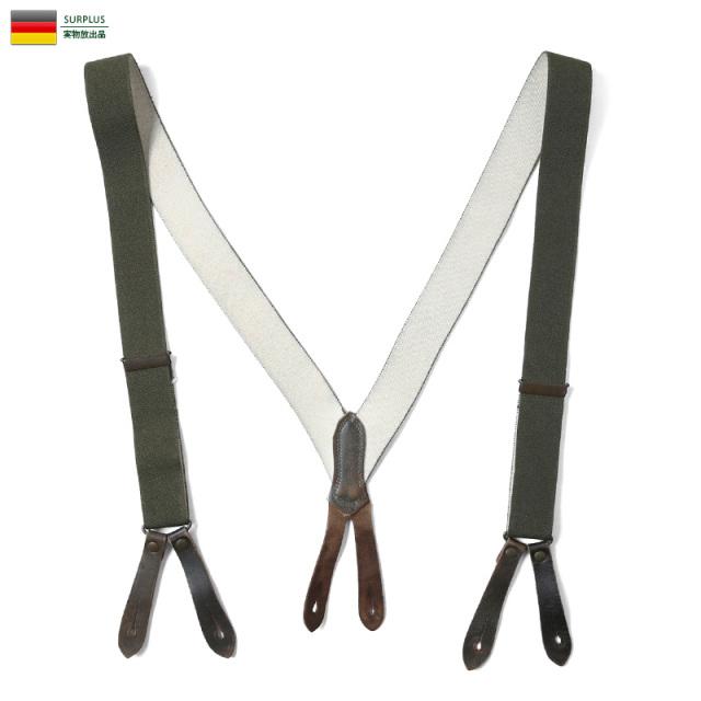 実物 USED ドイツ軍 BW サスペンダー ミリタリー 軍放出品