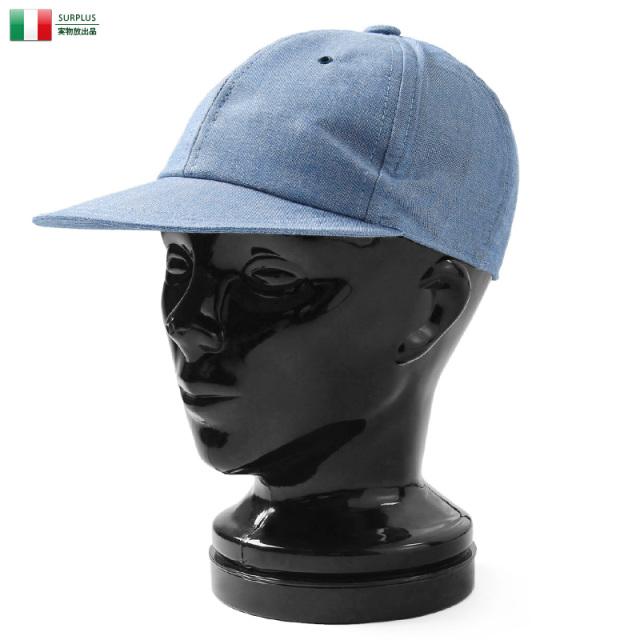 実物 新品 イタリア軍 1980年代 シャンブレーワークキャップ ミリタリー 軍放出品