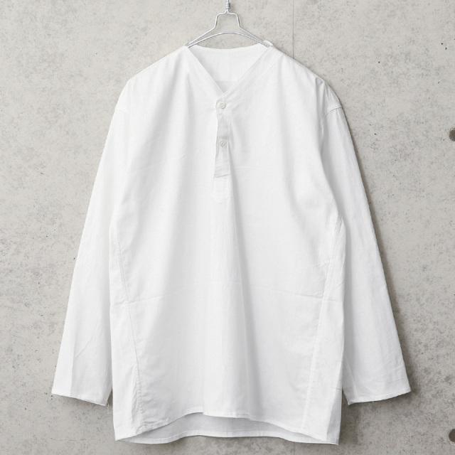 実物 新品 デッドストック ロシア軍 80s ヘンリーネック スリーピングシャツ ホワイト