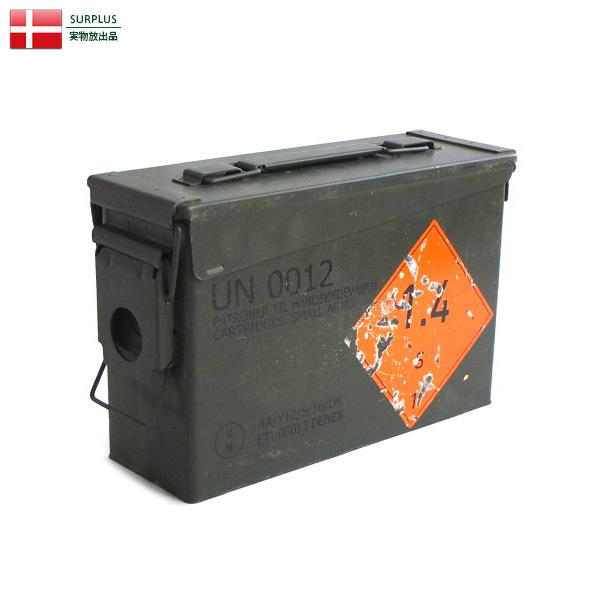 実物 USED デンマーク軍 SMALL AMMO CAN アンモボックス ミリタリー 軍放出品