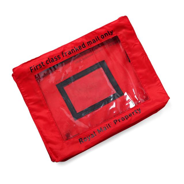 実物 USED イギリス ROYAL MAIL ロイヤルメール レターバッグ RED