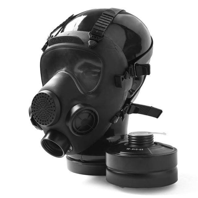 実物 新品 ポーランド軍 MP-5 ガスマスク BLACK