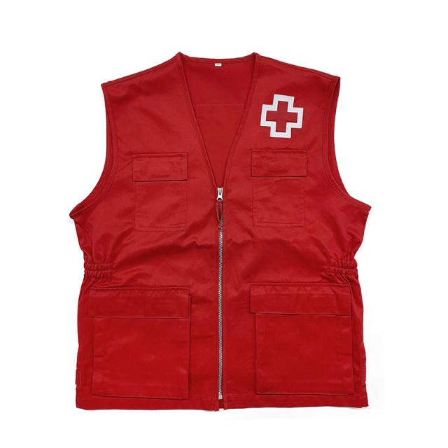 実物 新品 スペイン赤十字 レッドクロス ベスト