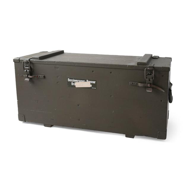 実物 USED スイス軍 ガソリンバーナー用ウッドボックス