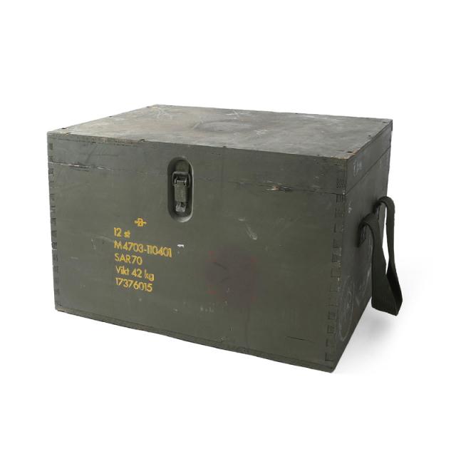実物 USED スウェーデン軍 コンパートメント ウッドボックス