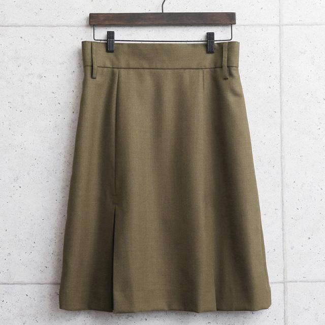 実物 新品 デッドストック イギリス陸軍 ALL RANKS BARRACK DRESS ボックスプリーツスカート ブラウン