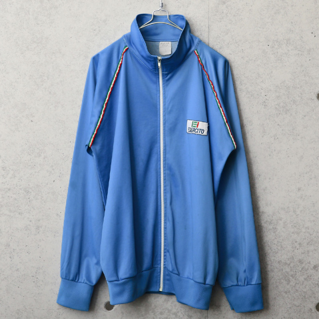実物 USED イタリア軍 トレーニング ジャケット スタンドカラー ブルー