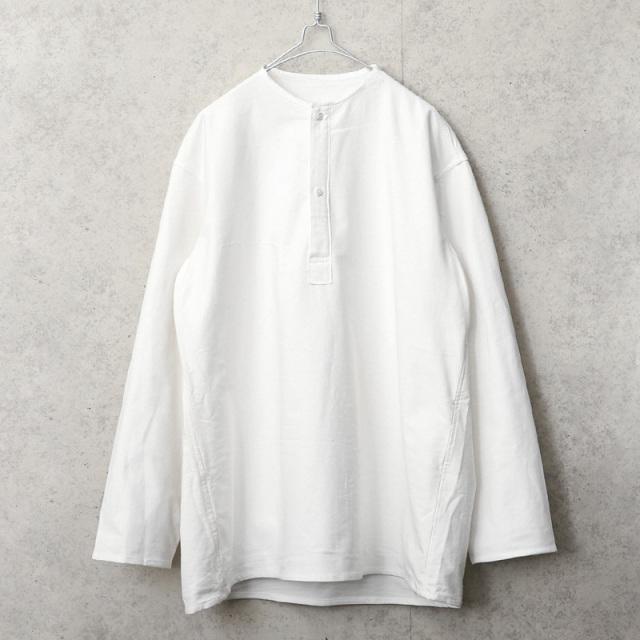 実物 新品 デッドストック ロシア軍 70s ヘンリーネック スリーピングシャツ ホワイト