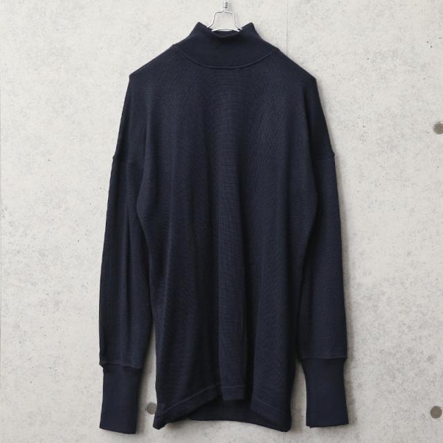 実物 新品 デッドストック イタリア海軍 モックネック ウールセーター
