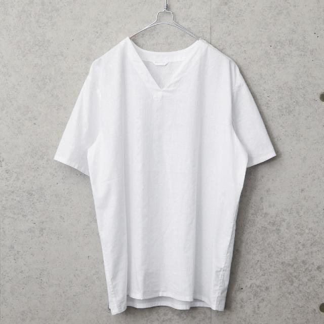実物 新品 デッドストック ロシア軍 80s Vネック スリーピングシャツ 半袖 ホワイト