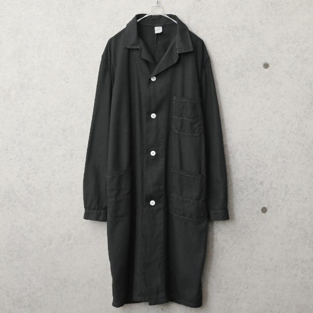 実物 新品 デッドストック チェコ軍 コットンツイル ワークコート BLACK染め