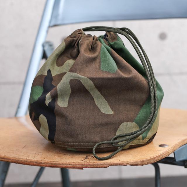 新品 米軍 NYCO ウッドランド迷彩 リメイク エフェクツバッグ