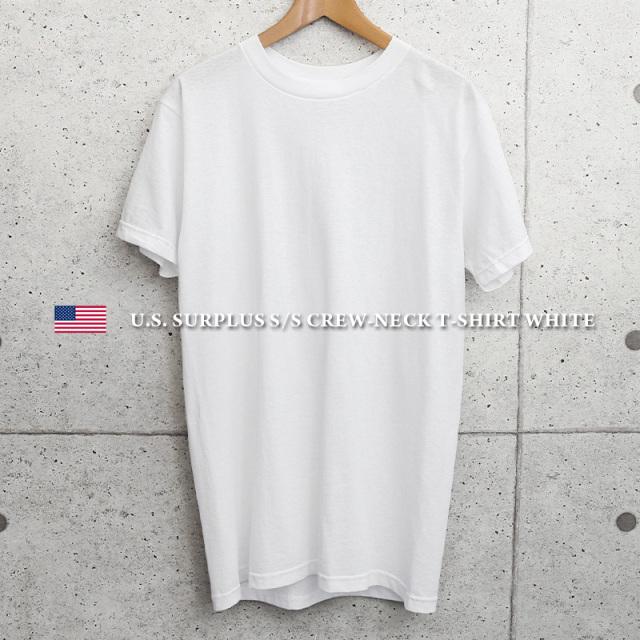 実物 新品 米軍 クルーネック 半袖Tシャツ WHITE MADE IN USA