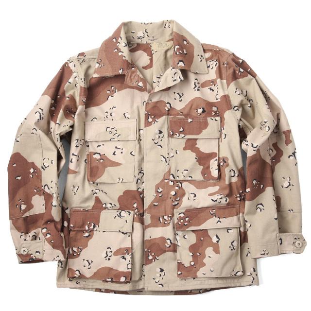 実物 新品 米軍6Cデザート(チョコチップ)カモ BDUジャケット