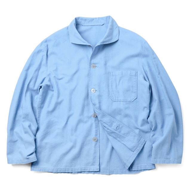 実物 ドイツ軍 パジャマシャツ ライトブルー USED