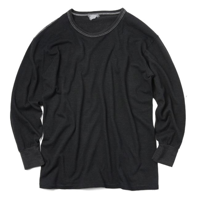 実物 新品 イタリア軍 アンダーシャツ BLACK染め