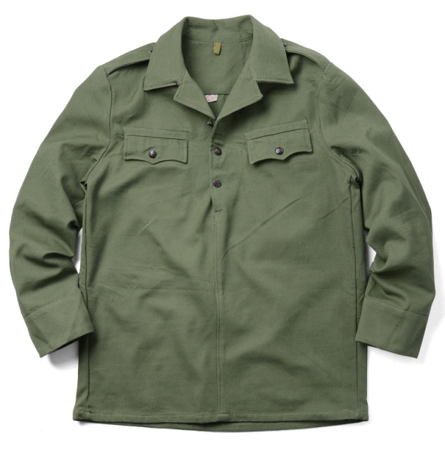 実物 新品 ブルガリア軍 プルオーバー 3ボタン ジャケット
