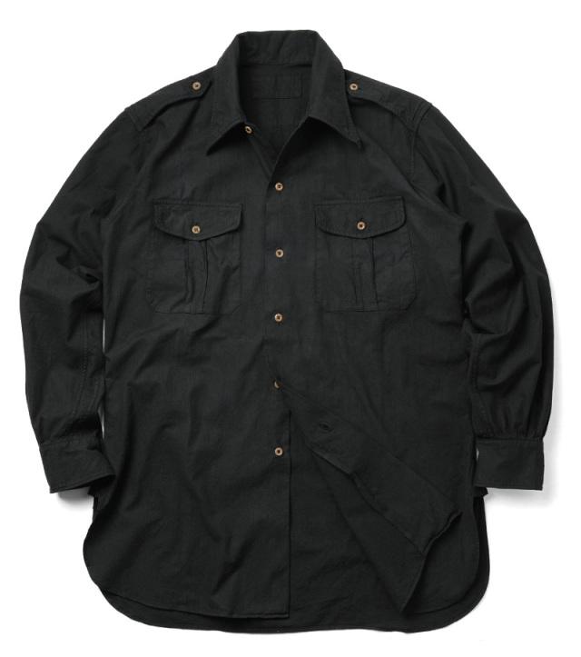 実物 フランス軍 M-47 チノシャツ BLACK染め