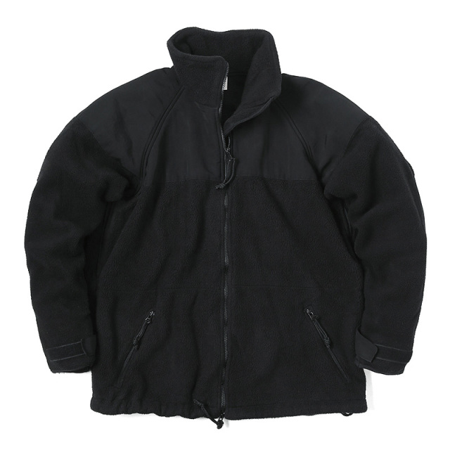 実物 USED 米軍 ECWCS POLARTEC(ポーラテック) フリースジャケット ブラック