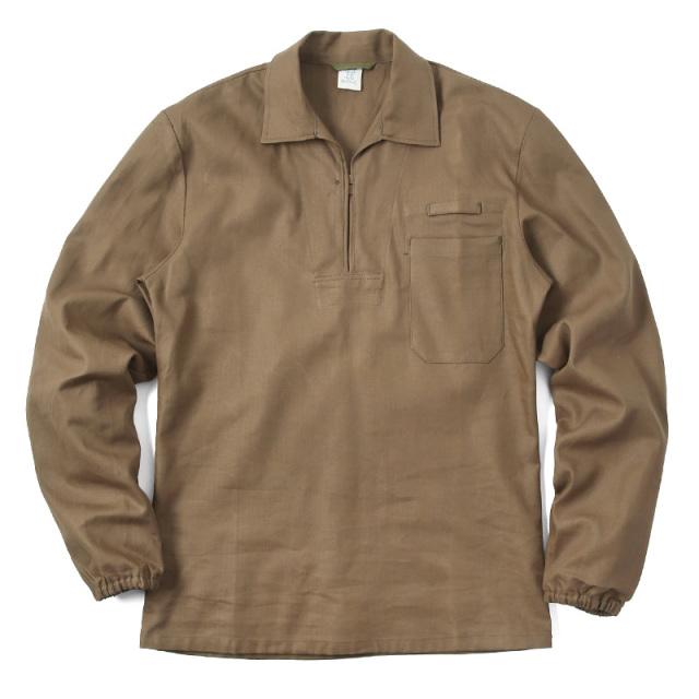 実物 新品 チェコ軍 HBT プルオーバーワークシャツ ブラウン