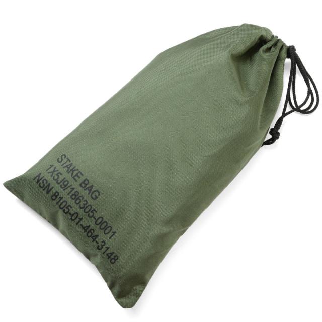 実物 新品 米軍 テントステークバッグ(STAKE BAG)