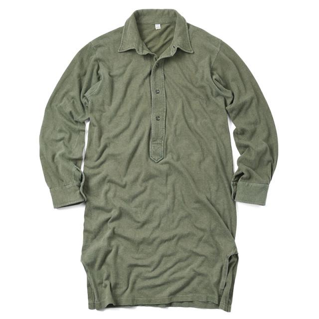 実物 ドイツ軍 スリーピング プルオーバーシャツ USED オリーブシャツ