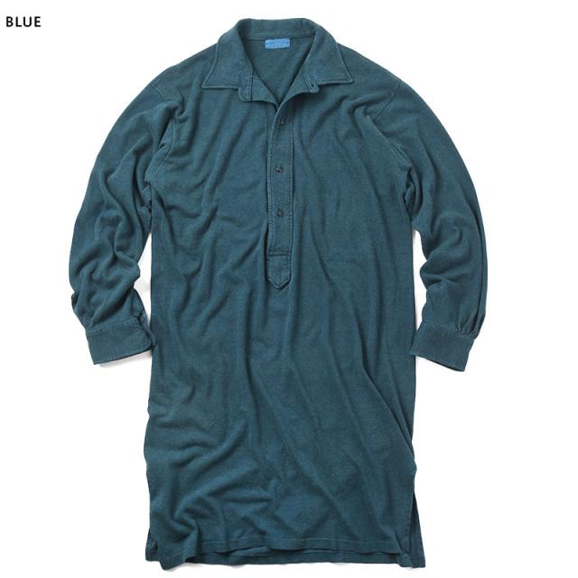 実物 ドイツ軍 スリーピング プルオーバーシャツ USED 後染めシャツ