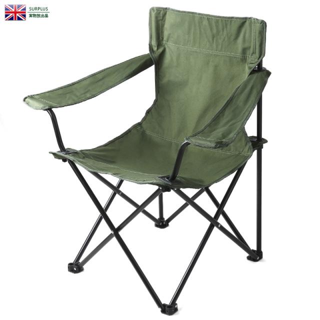 実物 新品 イギリス軍 ナイロンキャンバス フォールディングチェア (FOLDING,CHAIR) 家具