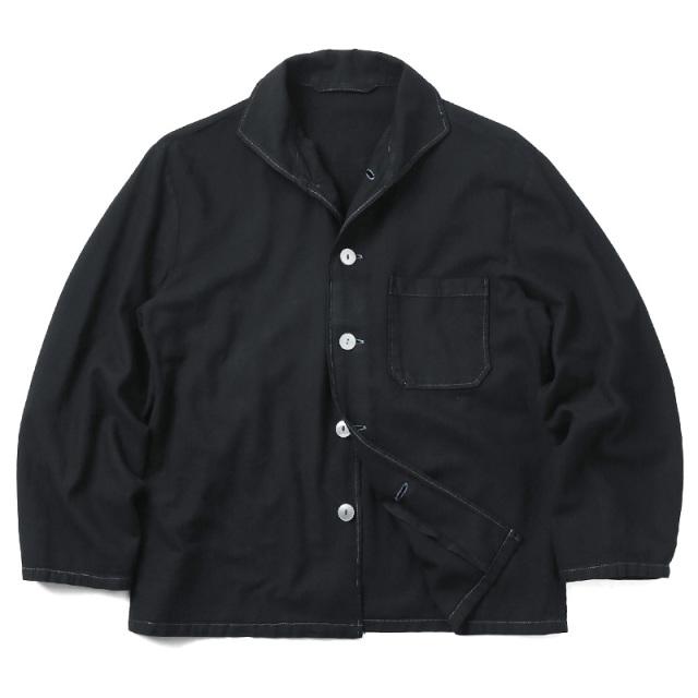 実物 ドイツ軍 パジャマシャツ BLACK染め