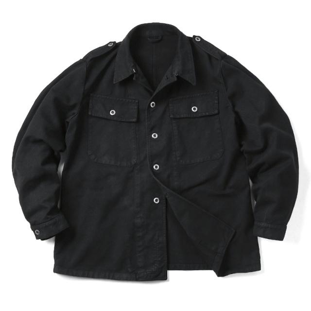 実物 スイス軍 前期型 デニムワークジャケット BLACK染め