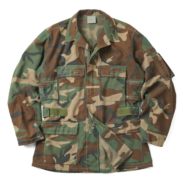 実物 米軍 U.S.ARMY ノーメックス エアクルー(ヘリクルー)ジャケット ウッドランドカモ USED