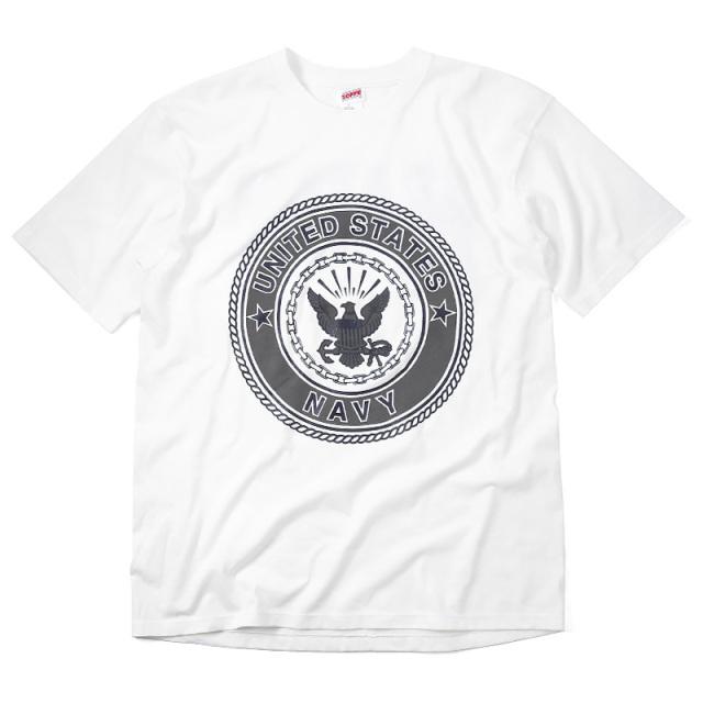 実物 新品 米軍 U.S.NAVY リフレクティブプリント S/S Tシャツ MADE IN USA
