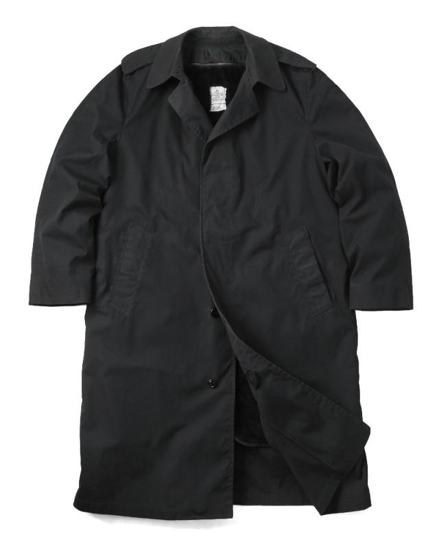 実物 USED 米軍 U.S. NAVY ブラックステンカラーコート ライナー付き【42~48サイズ】 ミリタリーコート