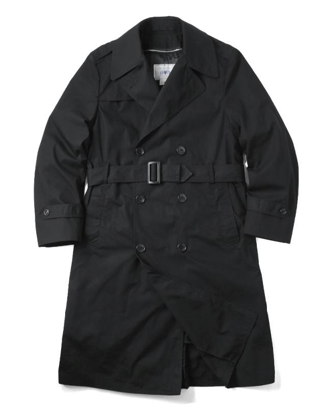 実物 USED 米軍 U.S. NAVY ブラックトレンチコート ライナー付き【42~52サイズ】