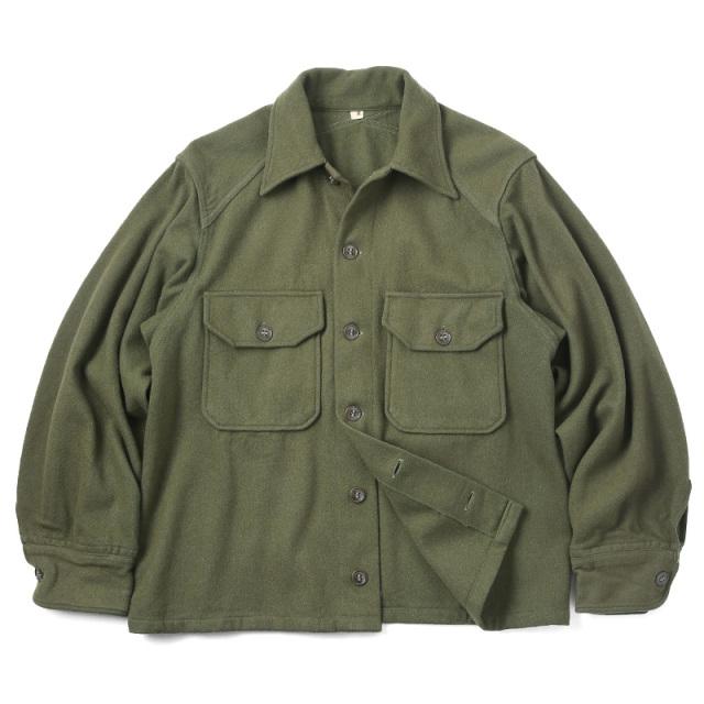 実物 USED 米軍 ヴィンテージ ウールシャツジャケット #1