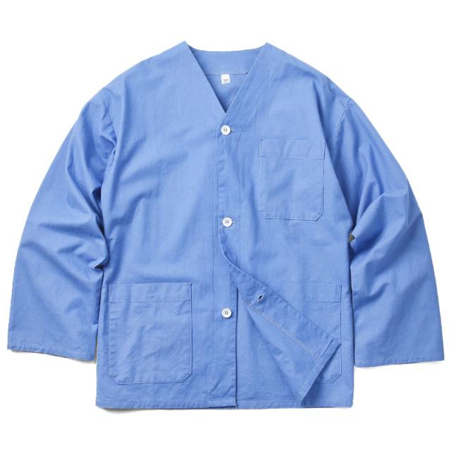 実物 新品 フランス軍 ホスピタルミリタリー スリーピングシャツ ブルー