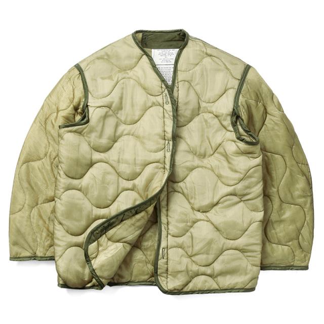 実物 新品 米軍 M-65フィールドジャケット用ライナー ボタン無し ミリタリー 通販 米軍放出品