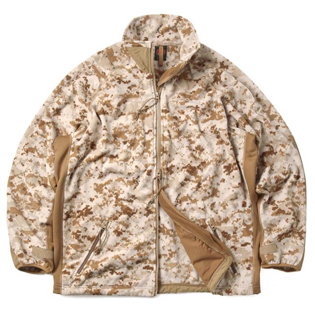 実物 新品 米軍 U.S.M.C. PECKHAM社製 POLARTEC フリースジャケット DESERT MARPAT