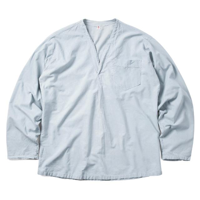 実物 新品 スウェーデン軍 パジャマシャツ LIGHT BLUE