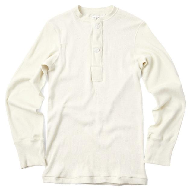 実物 新品 米軍 ヘンリーネックアンダーシャツ 2ボタン