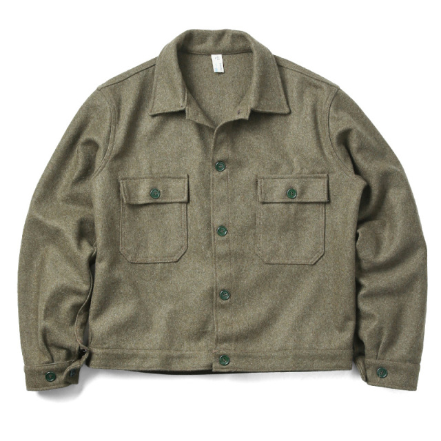 実物 新品 イタリア軍 ウールワークジャケット
