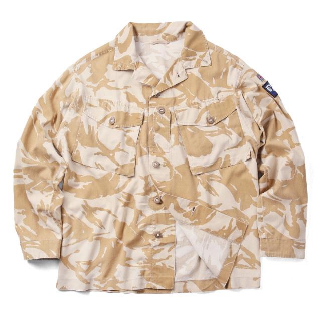 実物 USED イギリス軍 TROPICAL COMBAT ジャケット デザートDPMカモ
