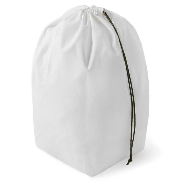 実物 新品 フランス軍 NAVY コットン ランドリーバッグ WHITE