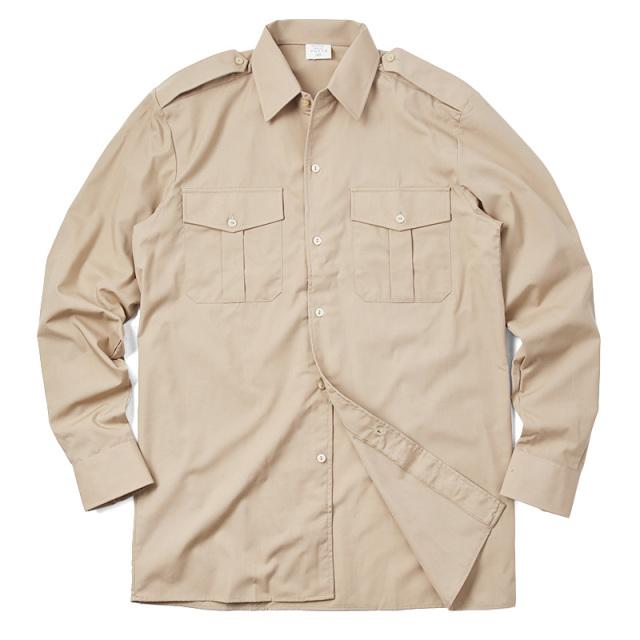 実物 新品 ベルギー軍 カーキ SERVICE シャツ