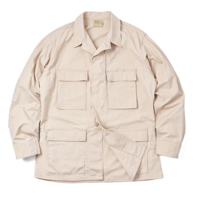 実物 新品 米軍 カーキ リップストップ BDU ジャケット ミリタリー 米軍放出品
