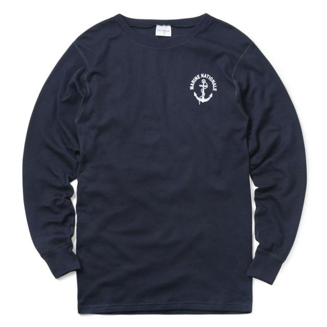実物 新品 フランス海軍 FIRE RETARDANT L/S クルーネック Tシャツ