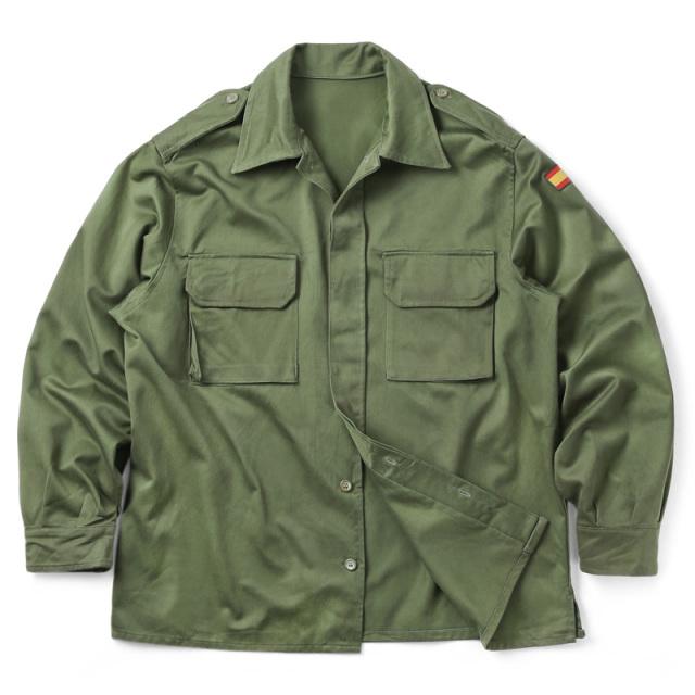 実物 USED スペイン軍 ARMY コンバット フィールドシャツ