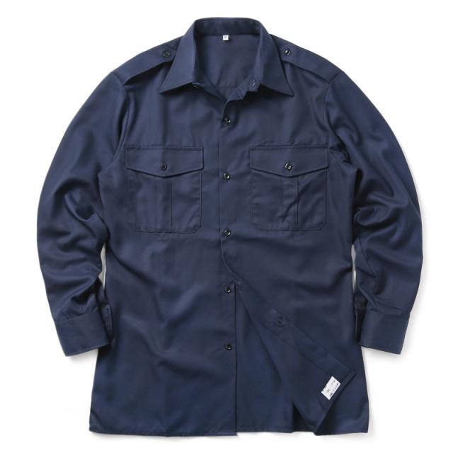 実物 新品 フランス軍 FRENCH NAVY COLOR ドレスシャツ