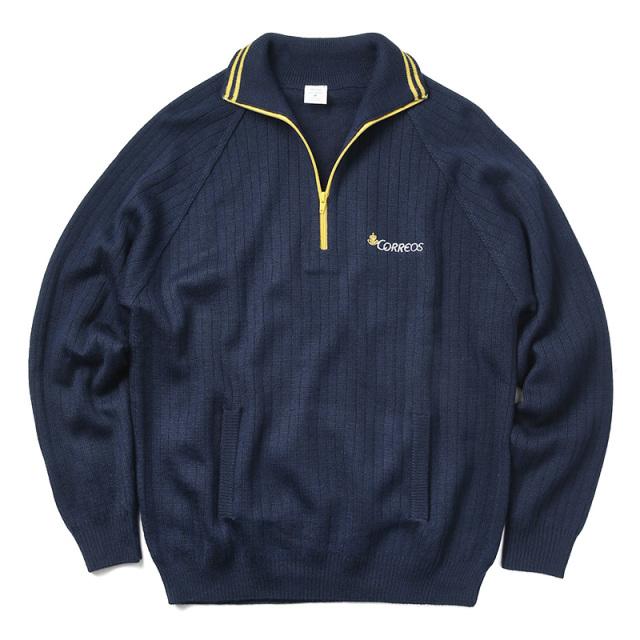 実物 新品 スペイン Correos ジッパー セーター