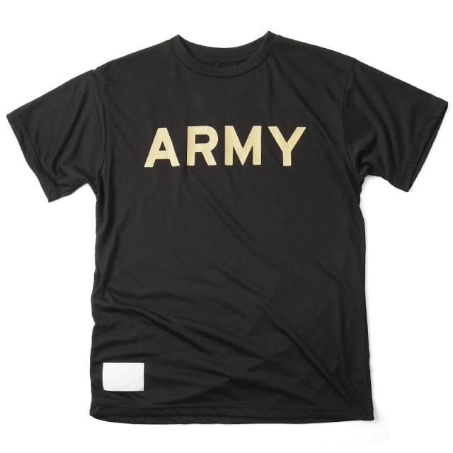 実物 新品 米軍 U.S.ARMY ブラック トレーニングTシャツ